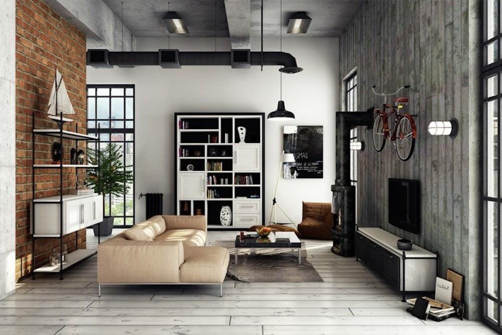 Comodidad y confort urbano con un sofá beige