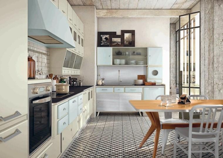 Detalles y más detalles para conseguir el toque vintage y modernos para la cocina