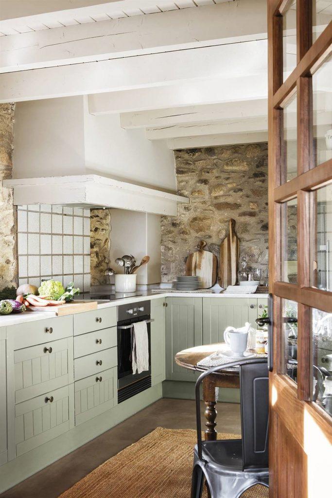 Rústico y verde, geniales para la cocina