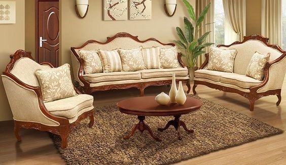 Un clásico sobrio y elegante salon en madera