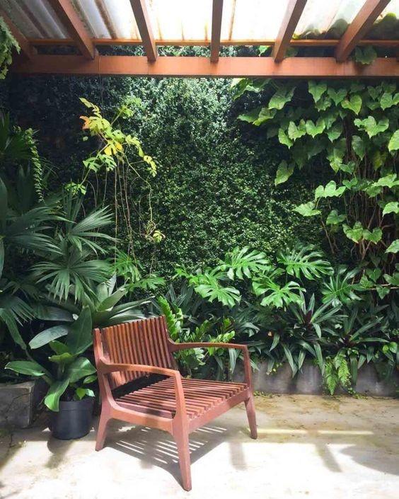La naturaleza con tus plantas favoritas en la cochera