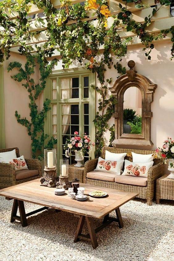 decorar patios internos de antaño