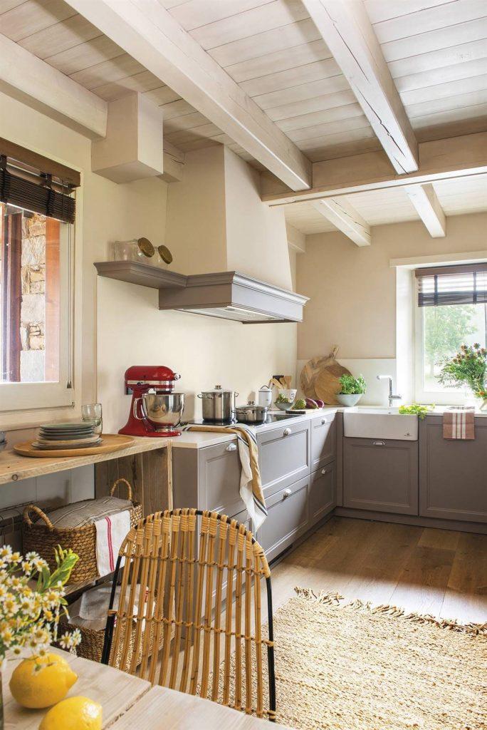 Techos y objetos ideales para cocinas rústicas