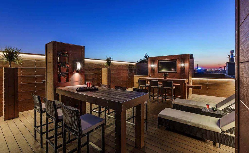 Terraza moderna para tu ático