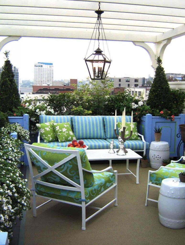 Un toque de color para tu terraza