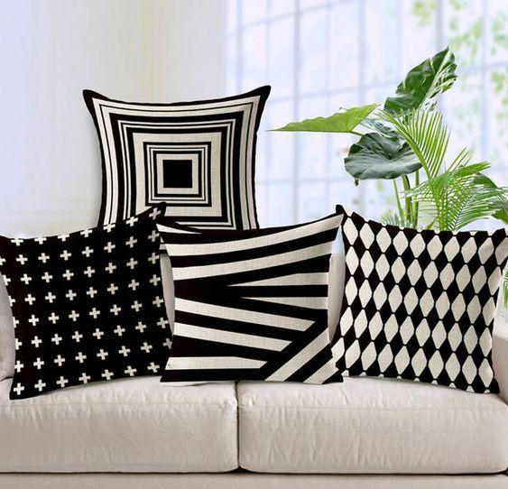 Líneas y Colores Neutrales para sofás blancos