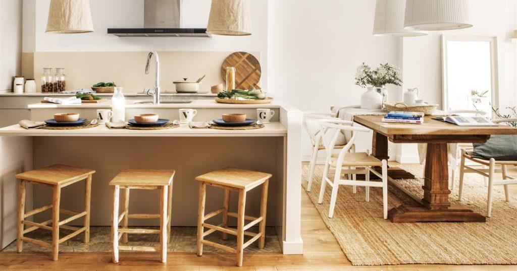 amuebla tu cocina con una isla en lugar de una mesa