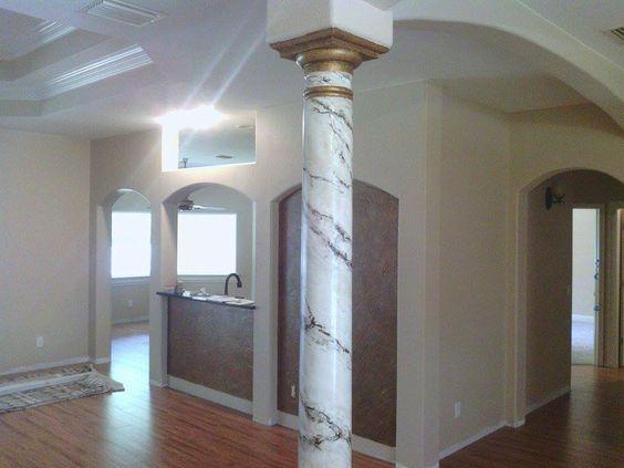 columna redonda estilo griego para el salon