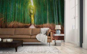 decora tu salon con papel pintado y pintura