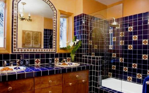 decoración de baños rústicos mexicanos