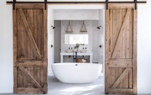 decorar puertas de baño