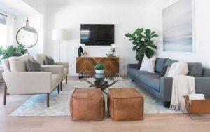 decorar un salón con 2 sofás