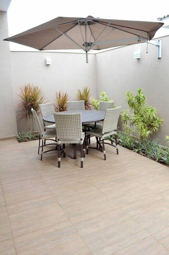 colores neutros para Decoración de patios pequeños minimalistas