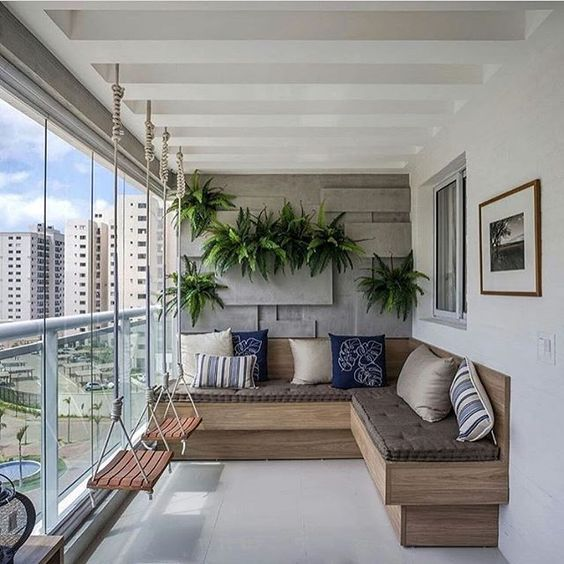 Los jardines verticales son una idea brillante para balcones modernos