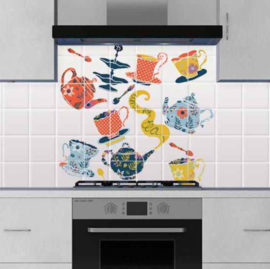 Vinilos decorativos de azulejos para pared de cocina