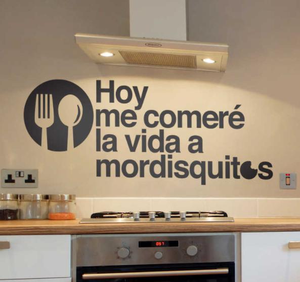 Vinilos decorativos de textos para pared de cocina