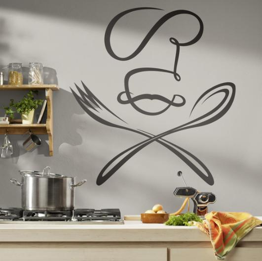 Vinilos decorativos de Chefs para pared de cocina