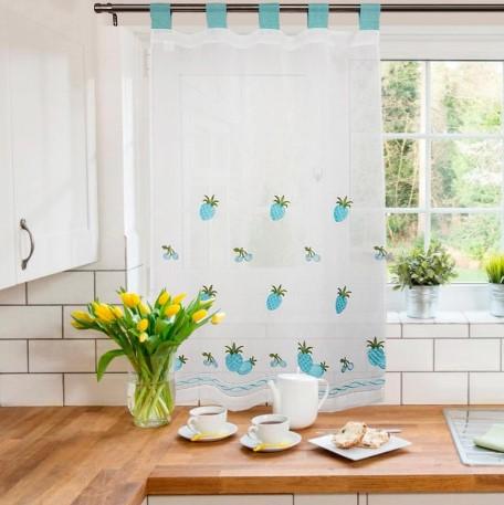 Decoración de cortina con bordados para cocina