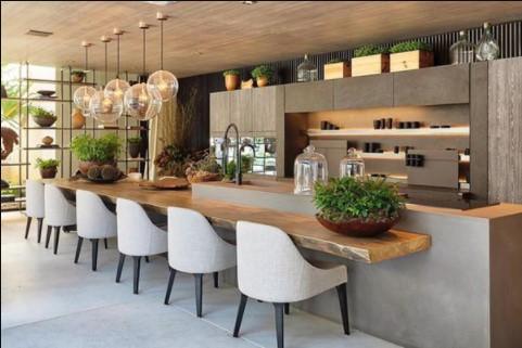 Decorar cocinas modernas con plantas purificadoras