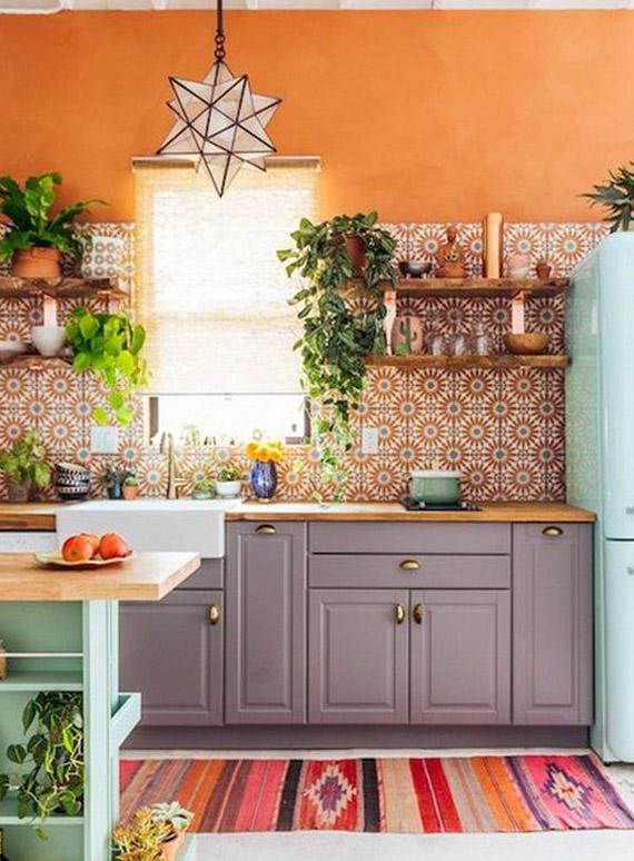 Piezas con diseños únicos en la cocina boho chic