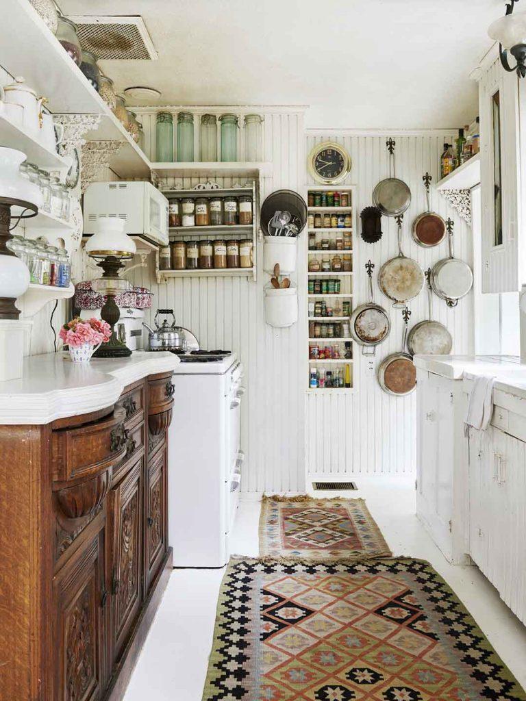 mezcla de épocas en la cocina boho chic