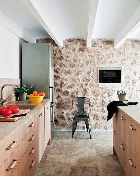distintos tipos de piedra para una cocina rustica