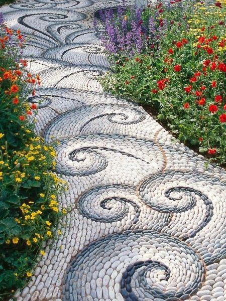 caminos de piedra de río, pero con un diseño inigualable