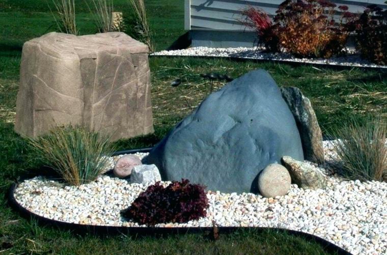 decora con Piedras grandes para que sean el centro de atención