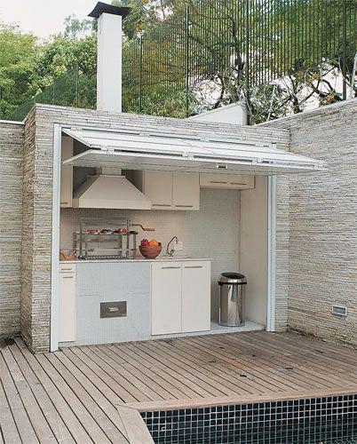 asador minimalista para el patio