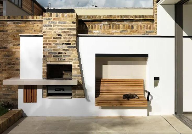 diseño práctico de asador para patios pequeños