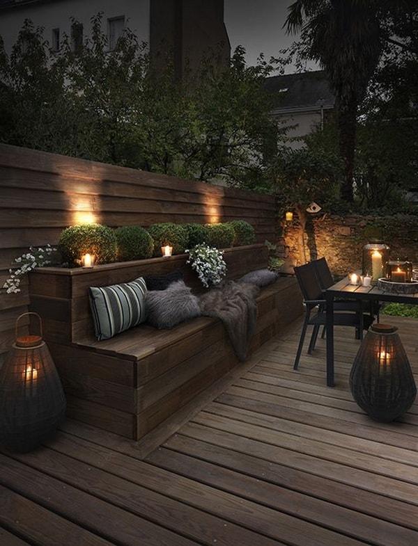 terrazas rústicas con madera oscura