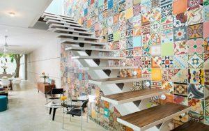 Murales para paredes de escaleras