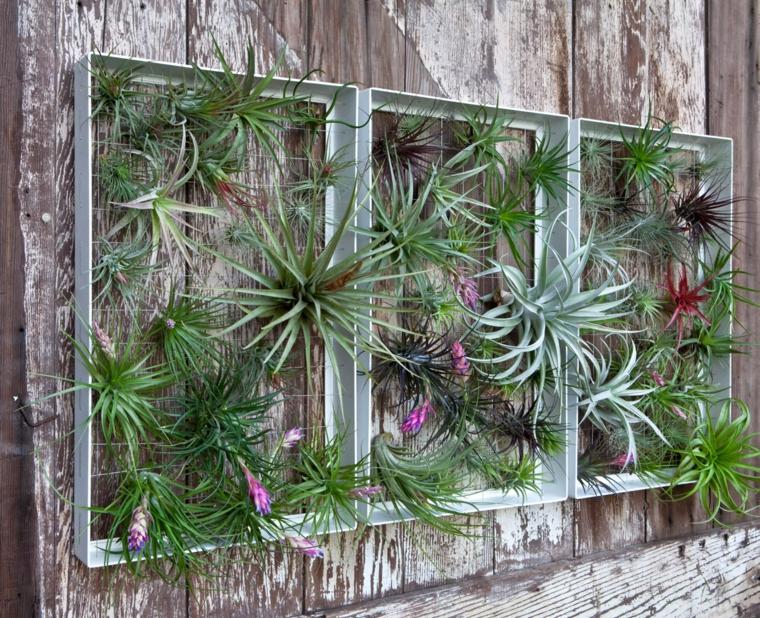 Paredes decoradas con alamabre  para jardín