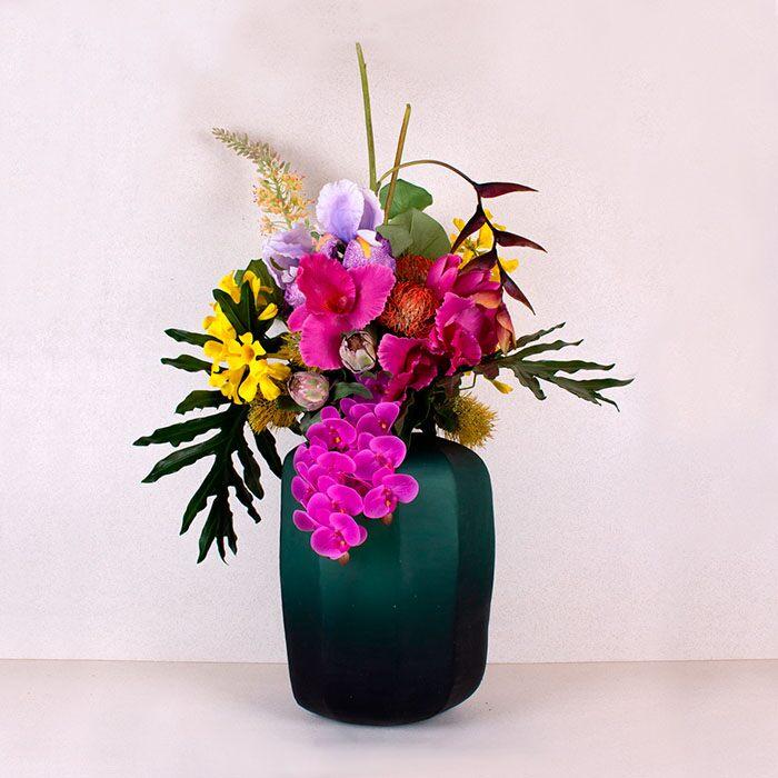 arreglo floral artificial para la cocina
