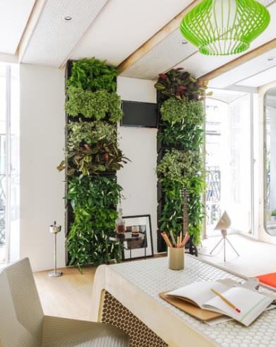 Paneles con plantas artificiales para la cocina