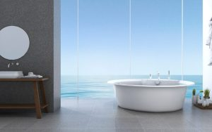 baño decorado de mar