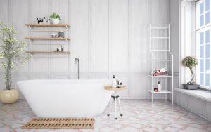 baños con paredes blancas