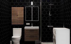 baños con paredes negras