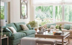 cojines para sofa verde
