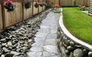 decoracion con piedras de rio para jardin