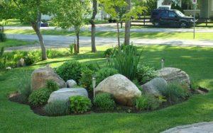 decoracion con piedras grandes