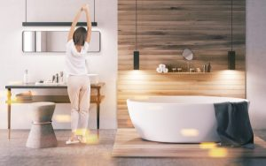 decoracion de baños modernos y elegantes