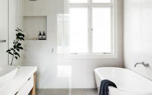 decoracion de baños pequeños elegantes