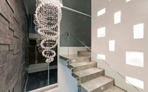 decoración de escaleras de cemento