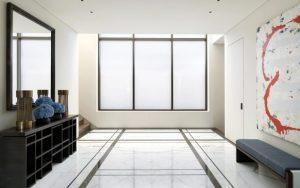 decoración de recibidor minimalista