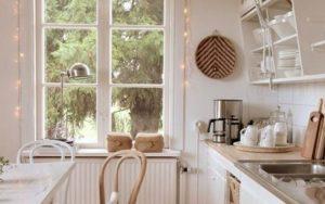 decoración de ventanas de cocina