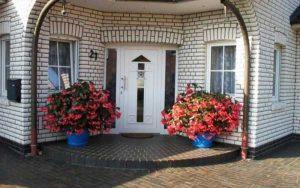 decoración para entrada de casa exterior