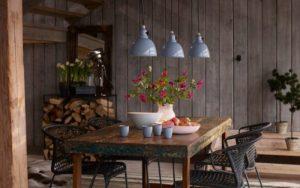 decorar un salon comedor estilo rustico moderno