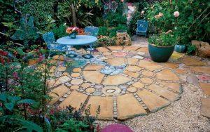 ideas de patios con piedras