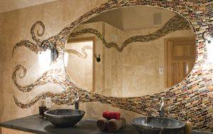 ideas para decorar espejos de baño